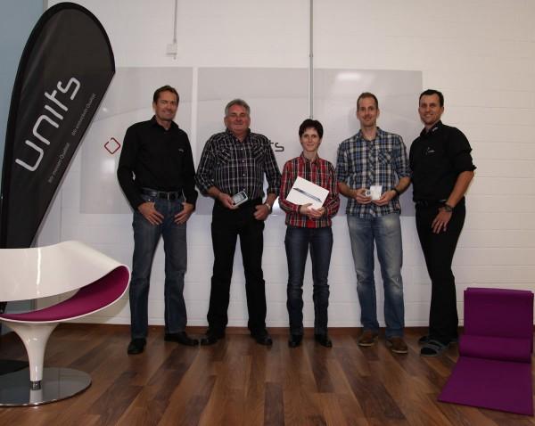 Christian Widmer GL units, Rudolf Podany, Bianca Gabriel, Philipp Eisele, Roger Eggenberger GL units